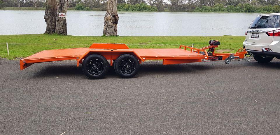 3.2T beaver tail car trailer